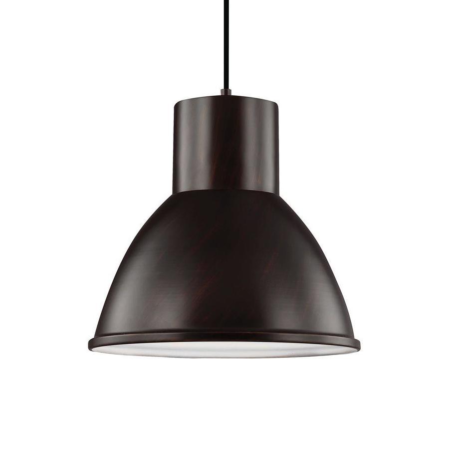 Sea Gull Lighting Division Street 15.25-in Burnt Sienna Industrial Single Warehouse Pendant