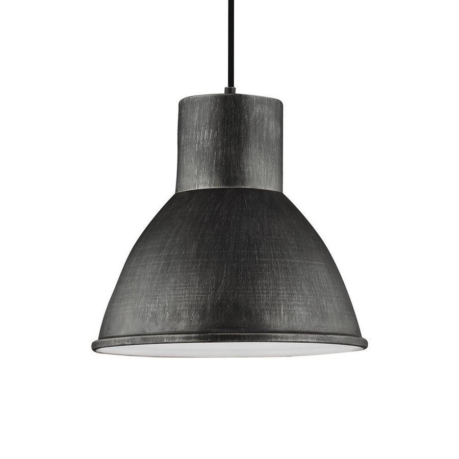 Sea Gull Lighting Division Street 15.25-in Stardust Industrial Single Warehouse Pendant