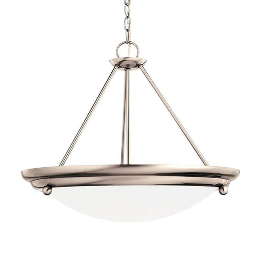 Sea Gull Lighting Centra 21.25-in Brushed Stainless Vintage Single Bowl Pendant