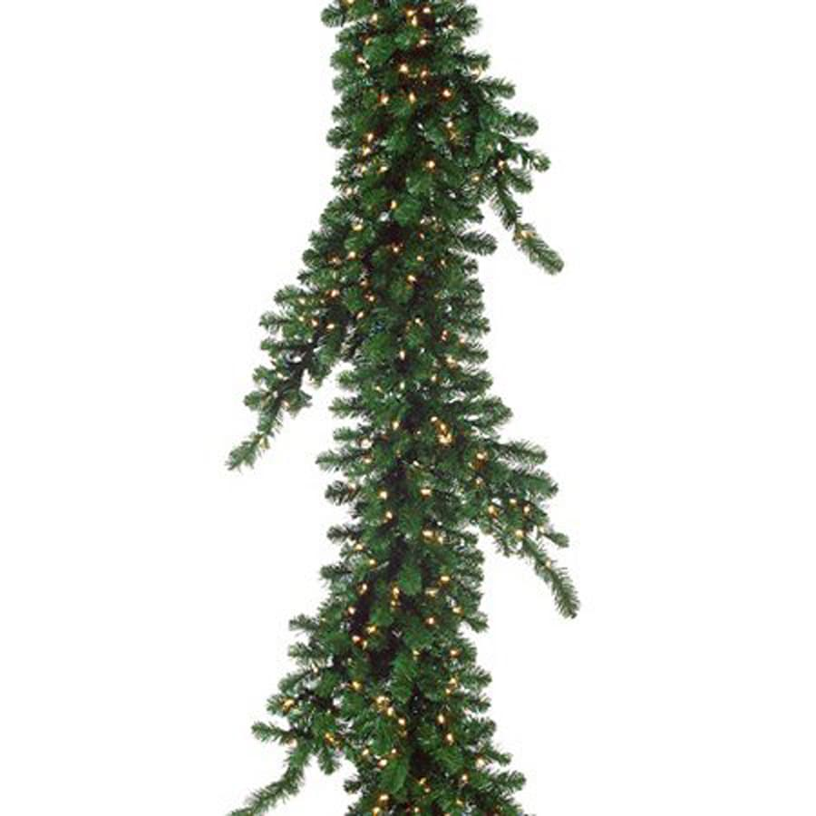 Northlight Allstate Pre-Lit 7-ft L Weeping Pine Garland with White Incandescent Lights