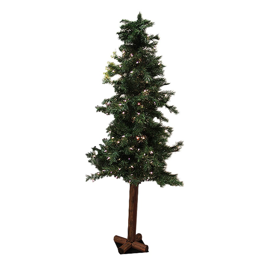 Northlight Allstate 5-ft Pre-Lit Alpine Slim Artificial Christmas Tree with White Clear Incandescent Lights