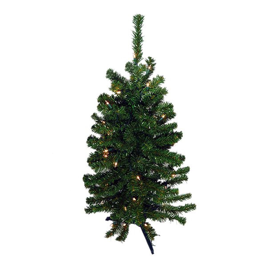 pre lit artificial christmas tree with clear white led lights at lowes. Black Bedroom Furniture Sets. Home Design Ideas