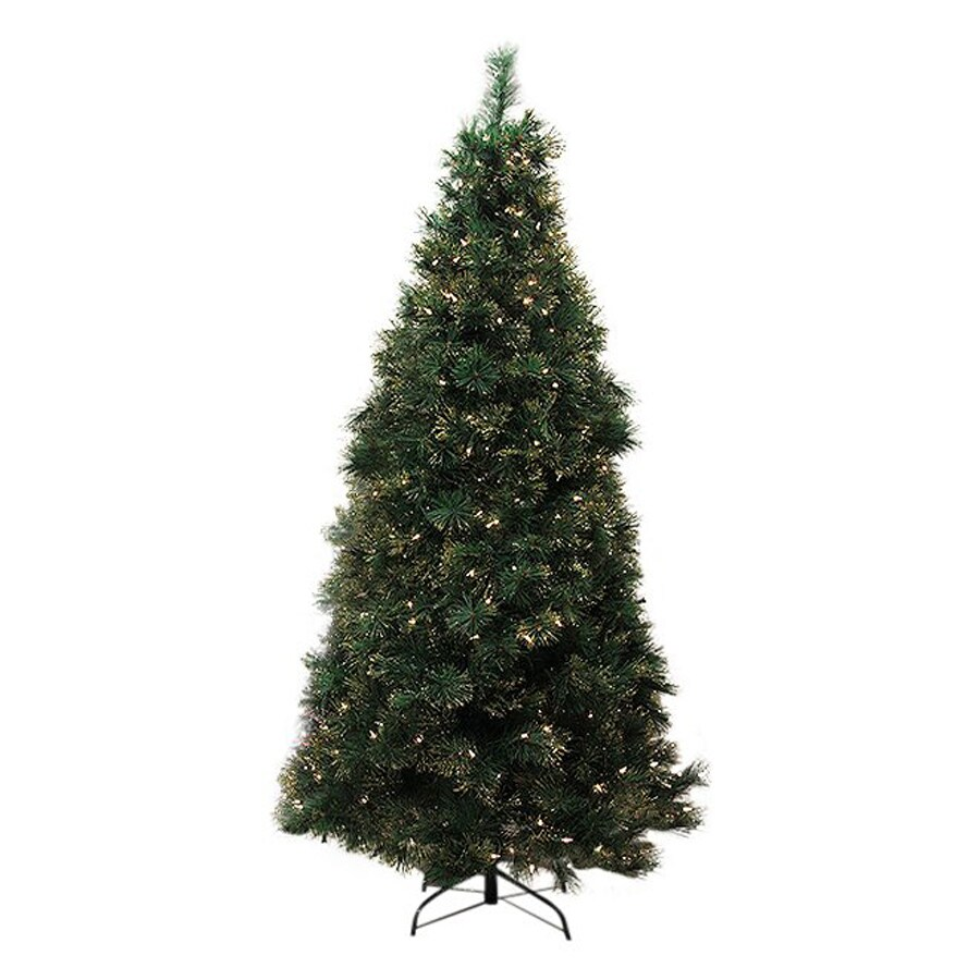 Northlight Equinox 4.5-ft Pre-Lit Taittinger Pine Slim Artificial Christmas Tree with White Clear Incandescent Lights
