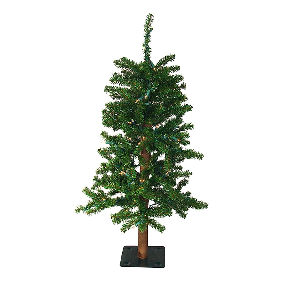 Northlight Darice 3-ft Pre-Lit Alpine Slim Artificial Christmas Tree with White Clear Incandescent Lights