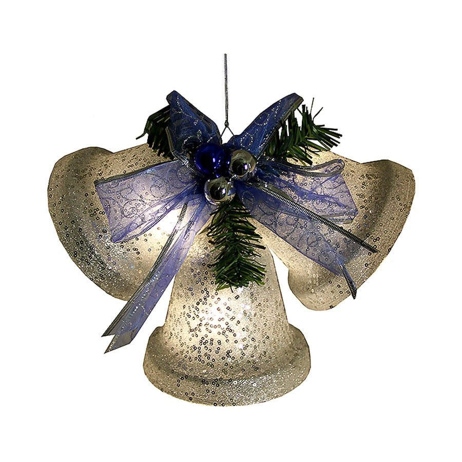 Shop Northlight Penn Pre-Lit Plastic Hanging Christmas Bells with Constant White LED Lights at ...