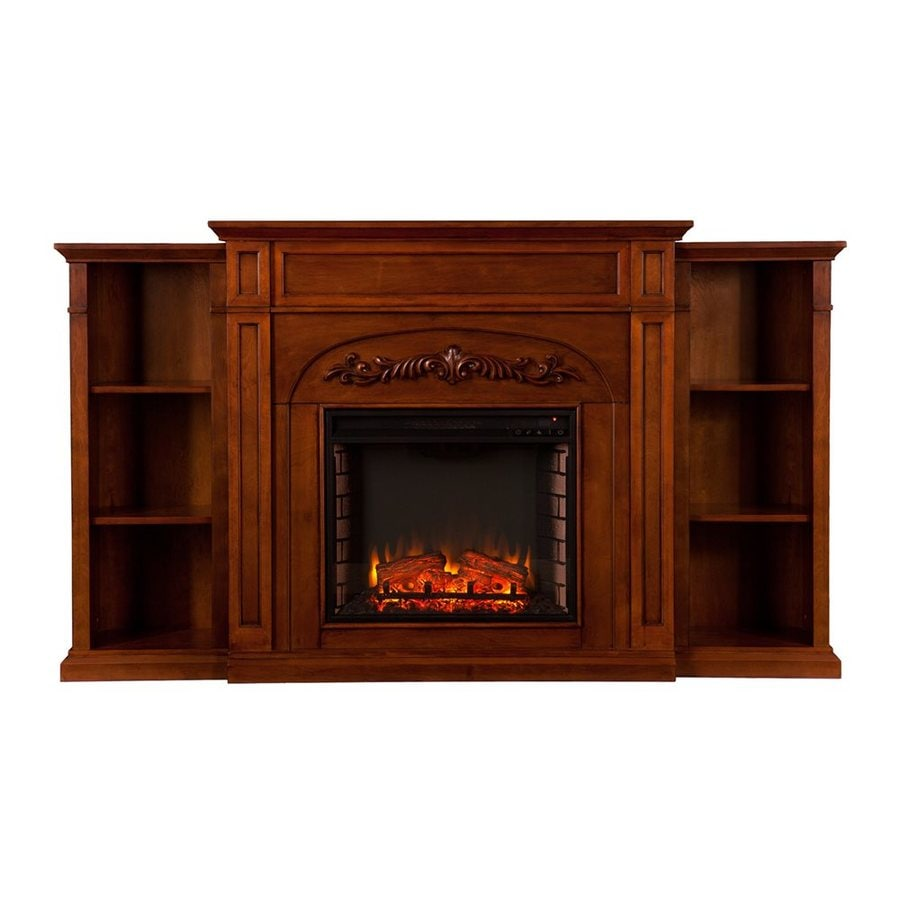 Boston Loft Furnishings 72.5-in W 5000-BTU Autumn Oak MDF LED Electric Fireplace with Thermostat and Remote Control