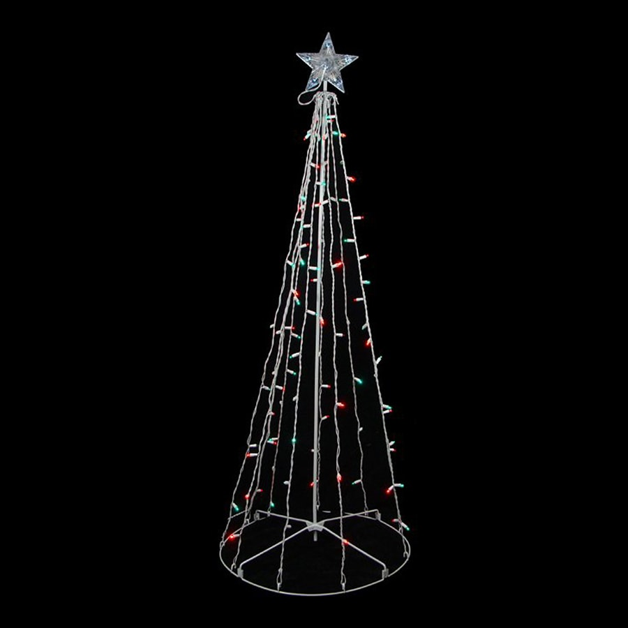tree outdoor christmas decoration with multicolor twinkling led lights. Black Bedroom Furniture Sets. Home Design Ideas