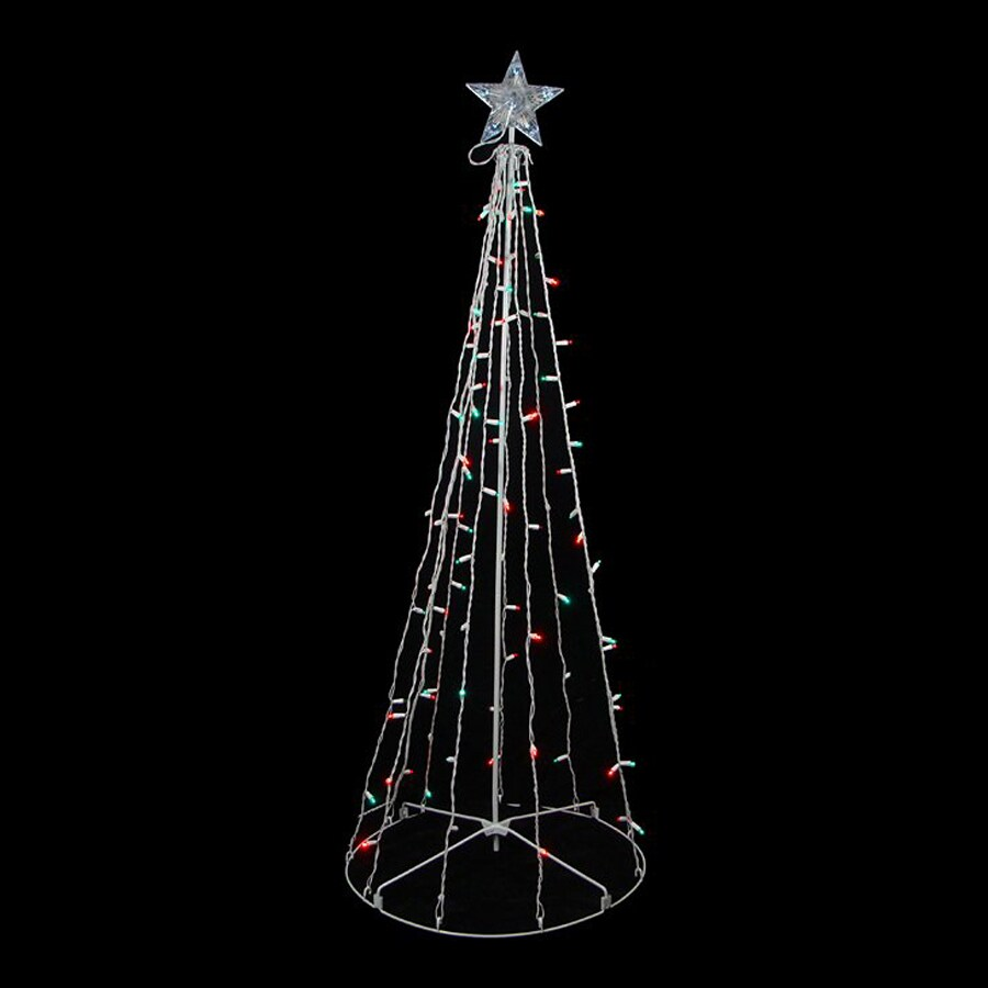 Northlight Sienna Pre-Lit Metal Freestanding Light Display with Twinkling Multicolor LED Lights
