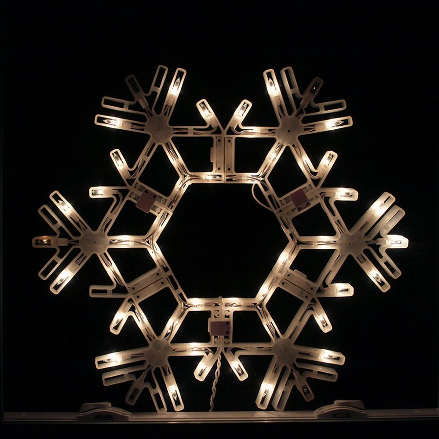 Northlight Sienna Pre-Lit Plastic Snowflake Wall-Mounted Light Display with Twinkling White Incandescent Lights
