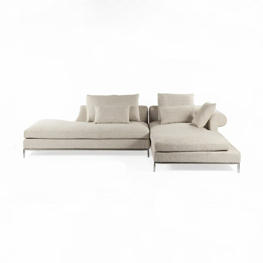 Control Brand Scandicci 2-Piece Beige Synthetic Sectional Sofa