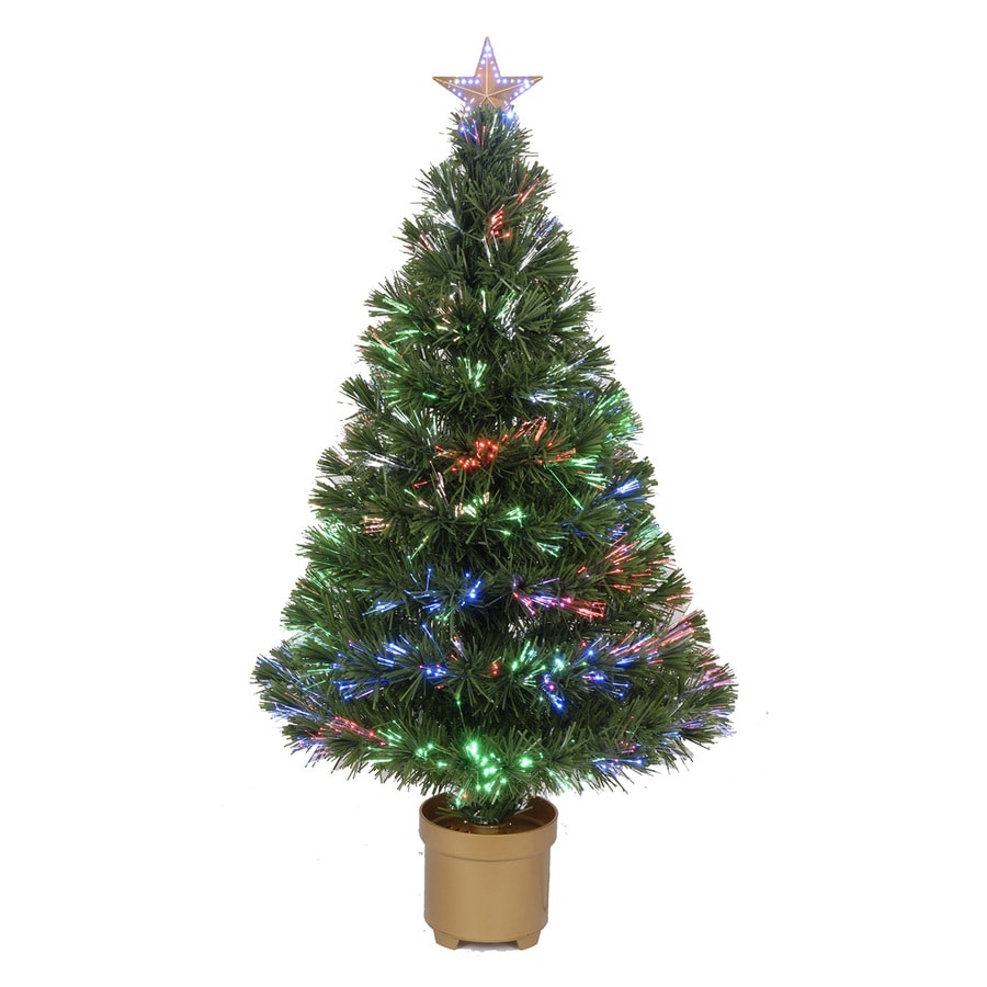 Merske Jolly Workshop 3-ft Pre-Lit  Artificial Christmas Tree with Multicolor LED Lights