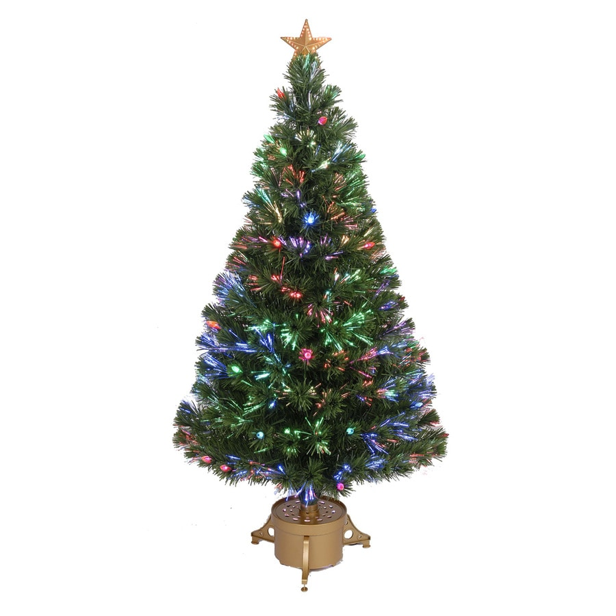 Pre lit artificial christmas tree with multicolor led lights at lowes