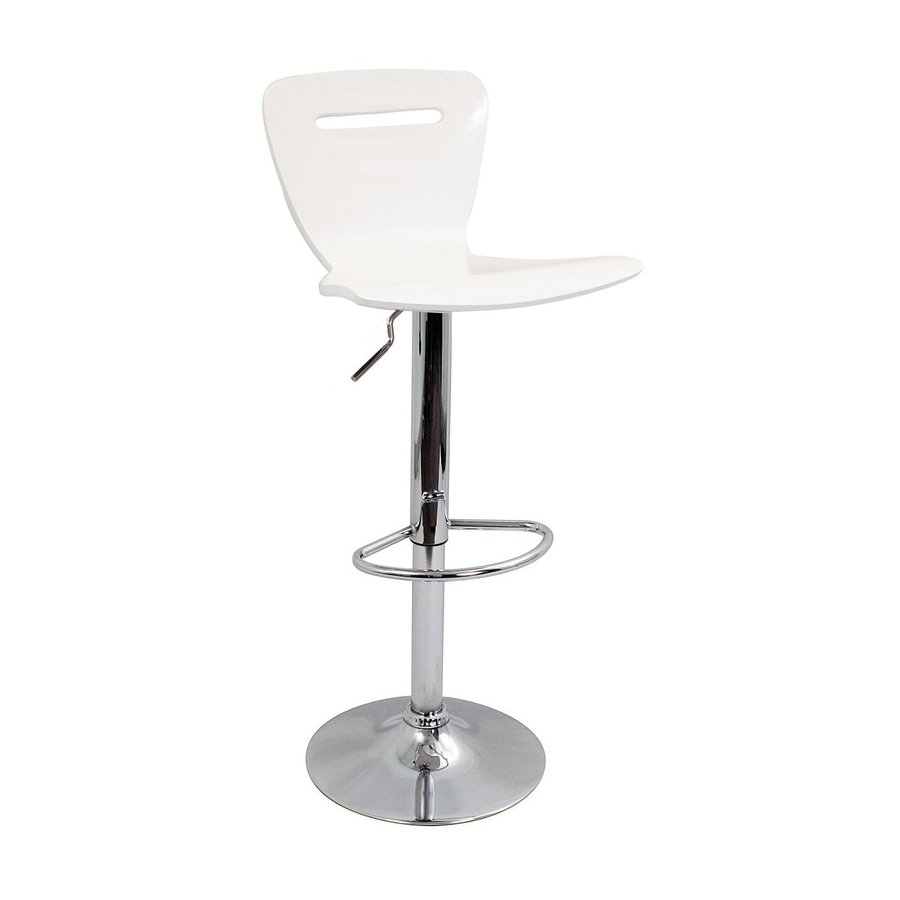 Lumisource White 32-in Adjustable Stool