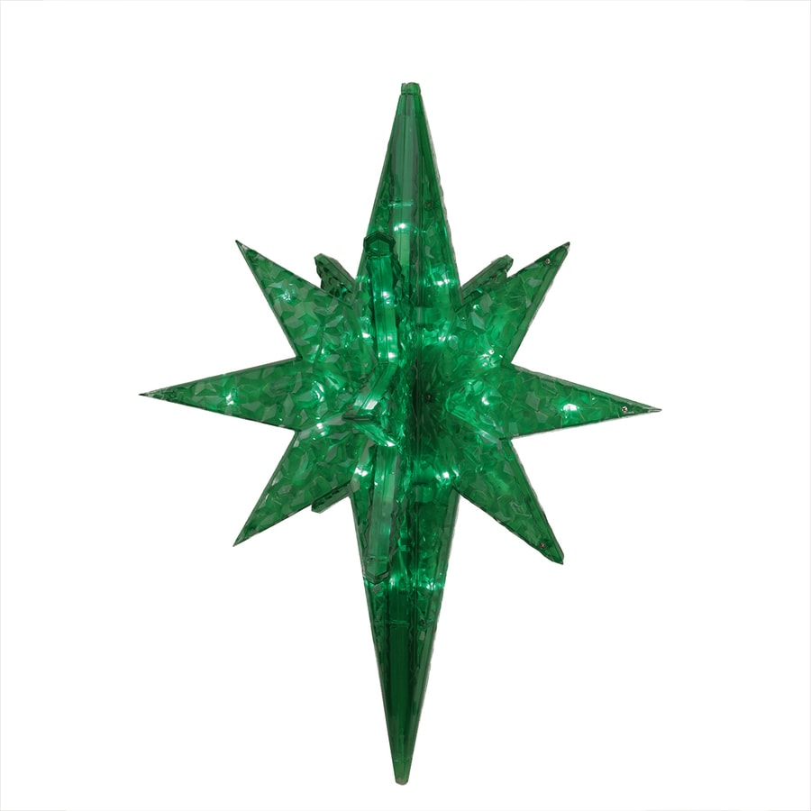 Northlight Penn Pre-Lit Acrylic Hanging Star with Twinkling Green LED Lights