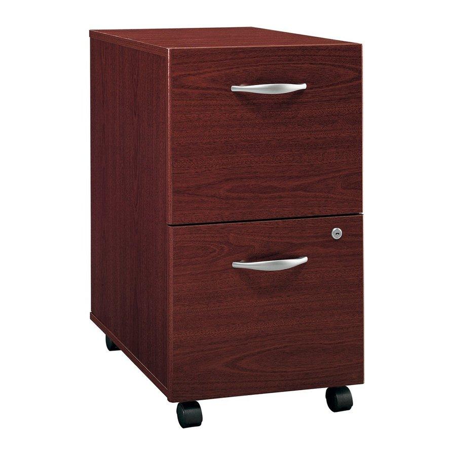 Bush Business Furniture Mahogany 2-Drawer File Cabinet