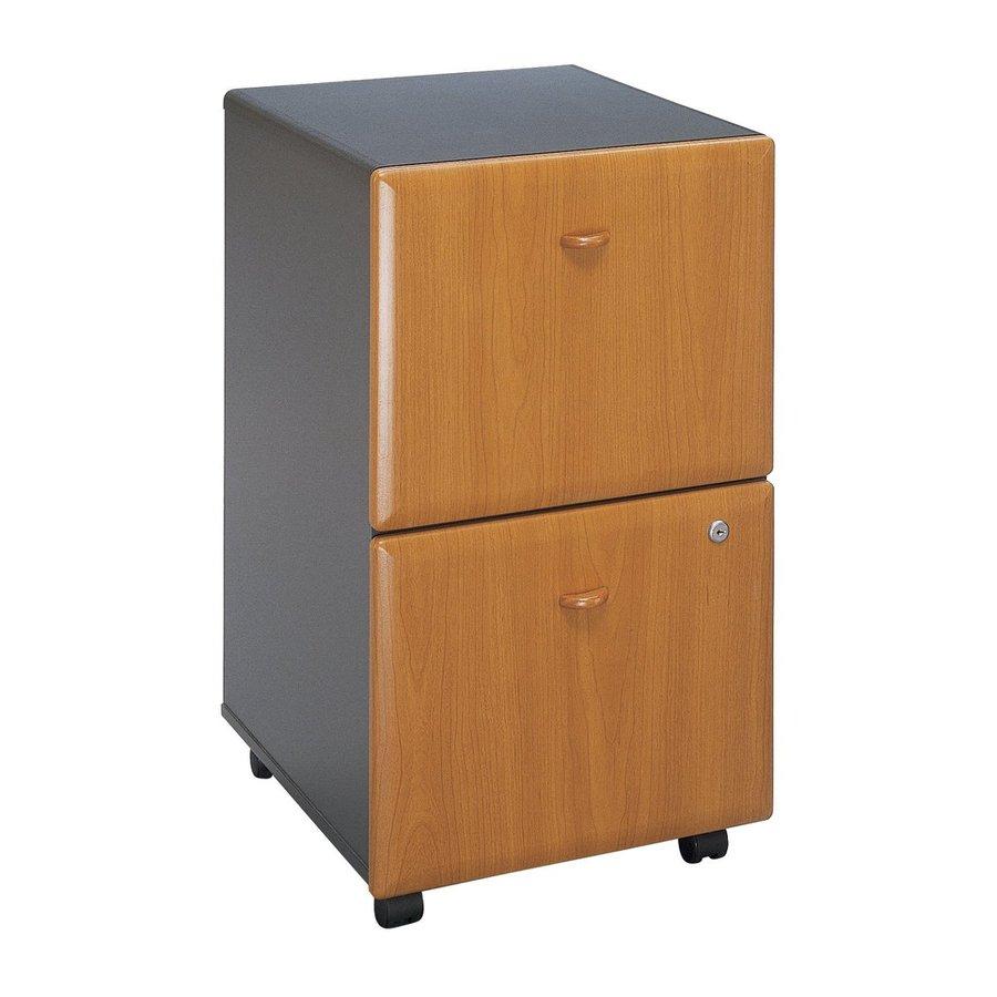 Bush Business Furniture Natural Cherry/Slate 2-Drawer File Cabinet