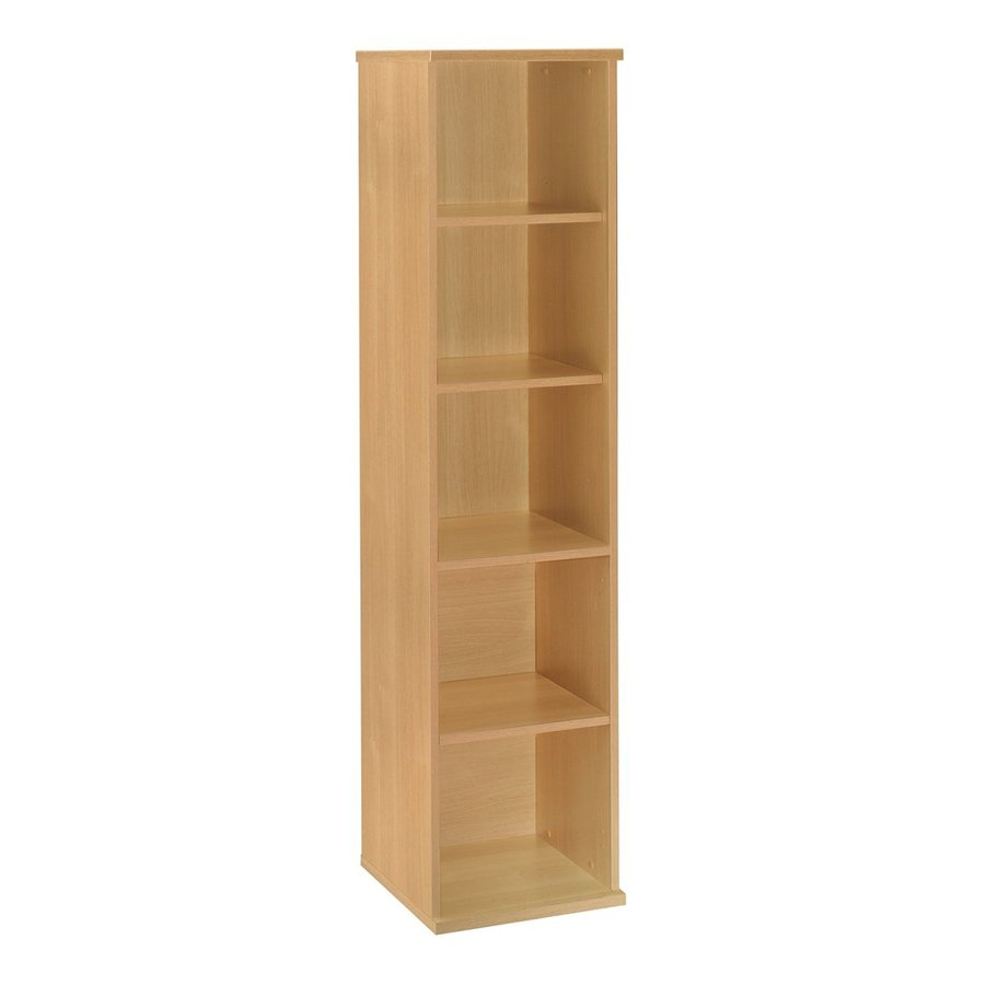 Bush Business Furniture Light Oak 17.84-in W x 72.83-in H x 15.35-in D 5-Shelf Bookcase