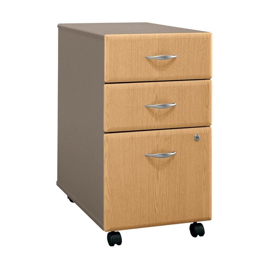 Bush Business Furniture Light Oak/Sage 3-Drawer File Cabinet