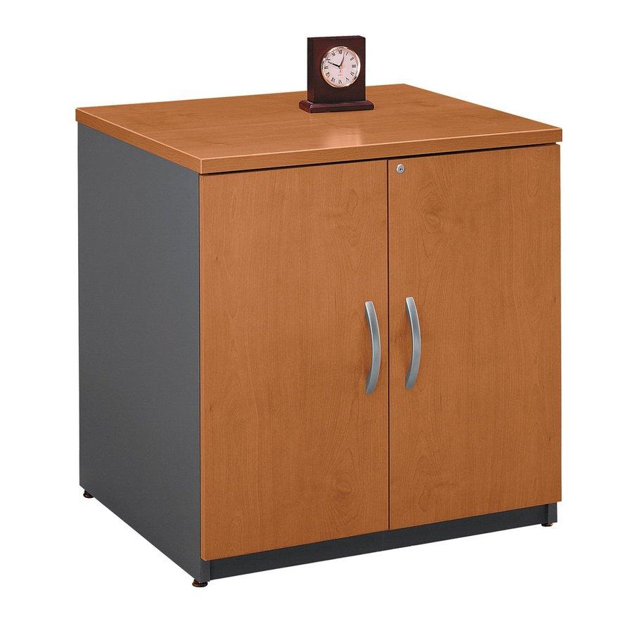 Bush Business Furniture Natural Cherry/Graphite Gray 1-Shelf Office Cabinet