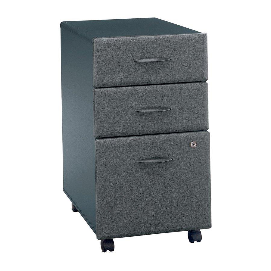 Bush Business Furniture Textured Slate Vinyl 3-Drawer File Cabinet