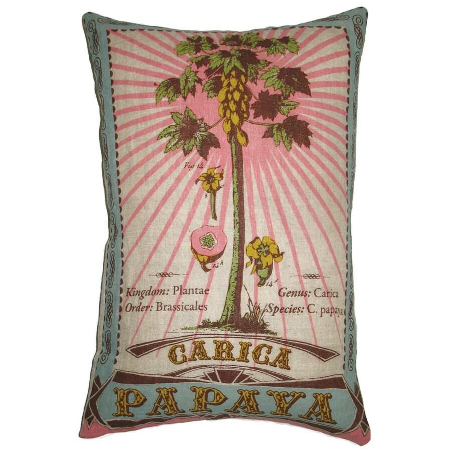 Rhadi by Koko 13-in W x 20-in L Beige/Brown/Sage/Aqua Rectangular Indoor Decorative Pillow