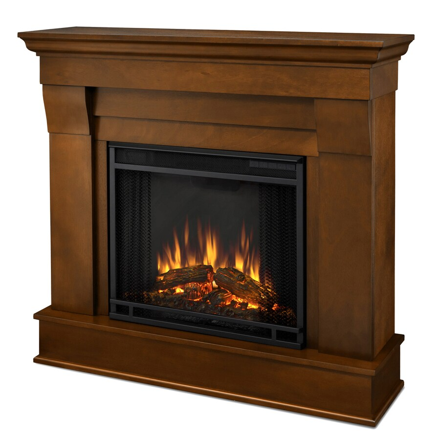 Real Flame 40.9-in W 4780-BTU Espresso Wood LED Electric Fireplace with Thermostat and Remote Control