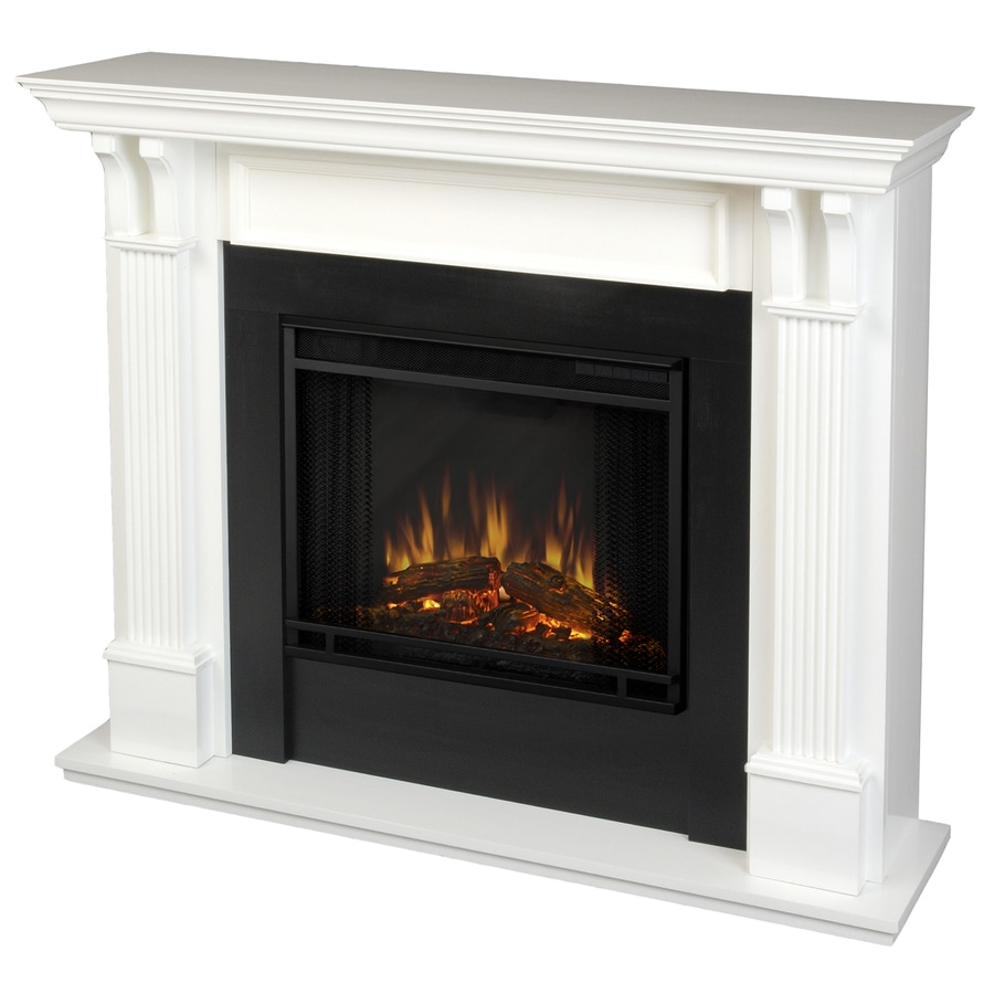 Shop Real Flame 48 In W 4780 Btu White Wood Led Electric Fireplace With Thermostat And Remote