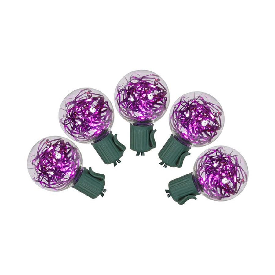 Shop Northlight 25-Count Purple G40 LED Christmas String Lights at Lowes.com
