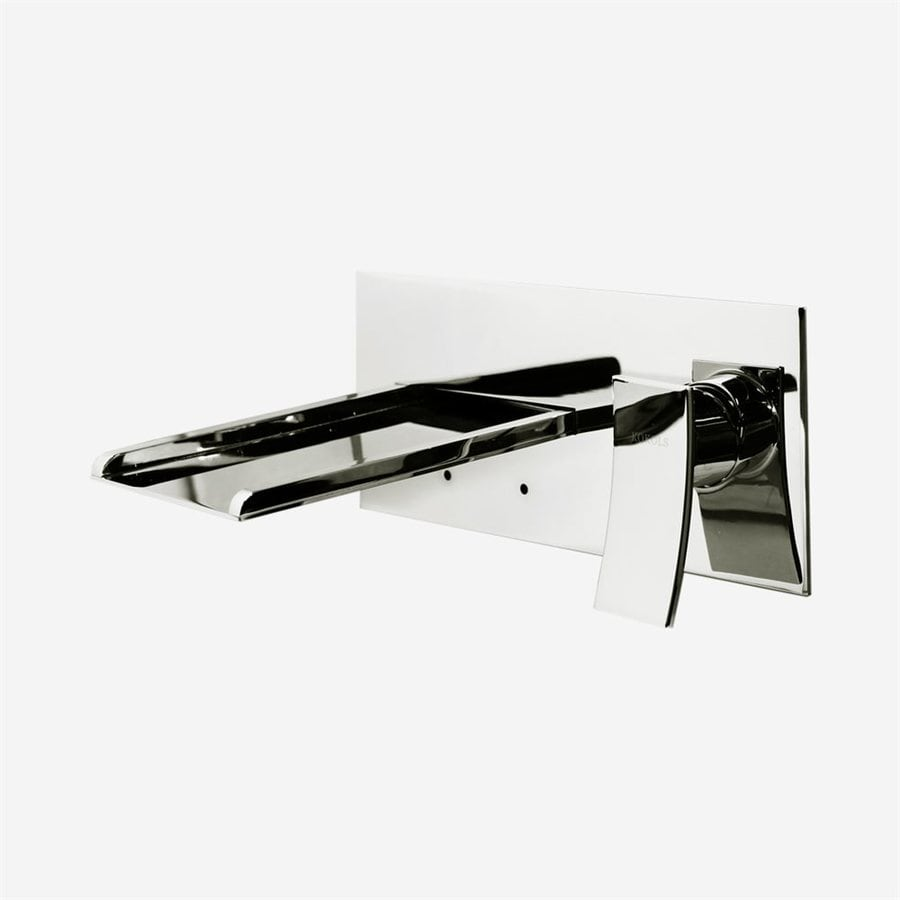 Polished Chrome 1-Handle Fixed Wall Mount Bathtub Faucet Product Photo