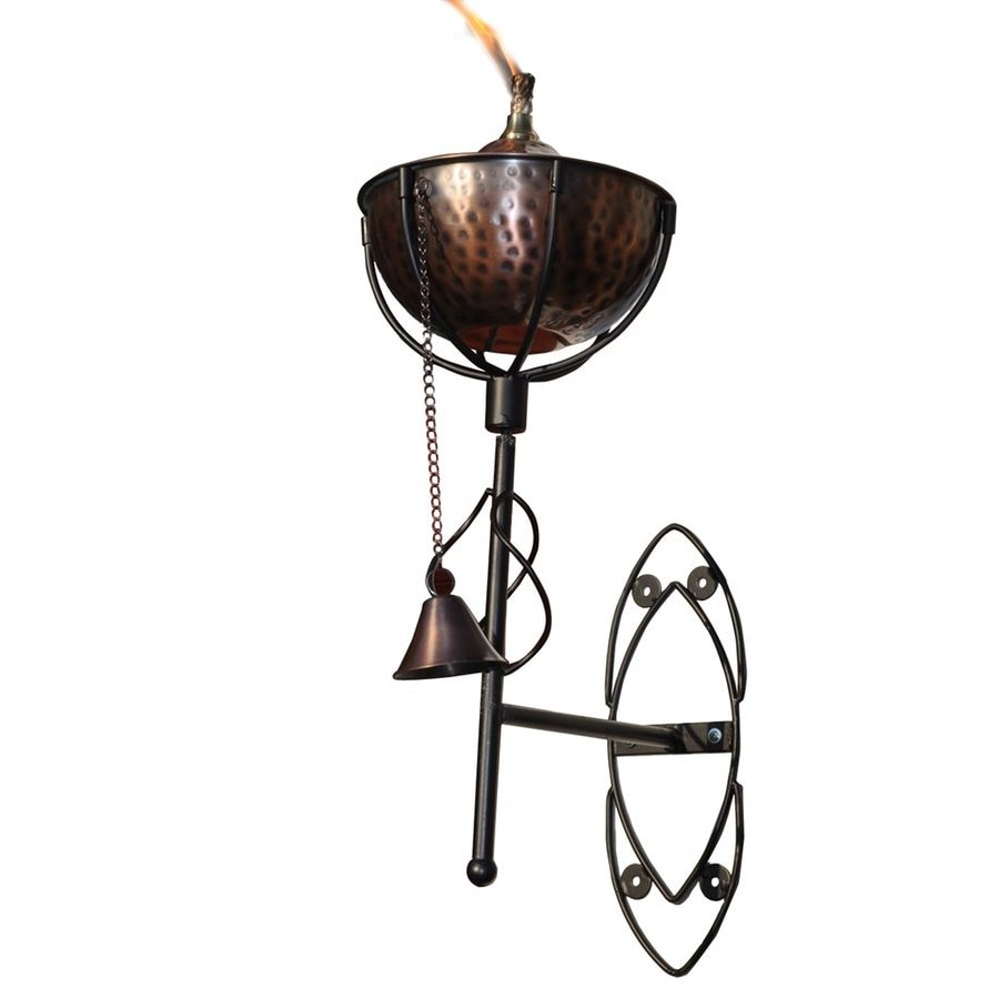 Starlite Garden & Patio Torche Maui Grande 2-Pack 21-in Hammered Bronze Copper Citronella Torches