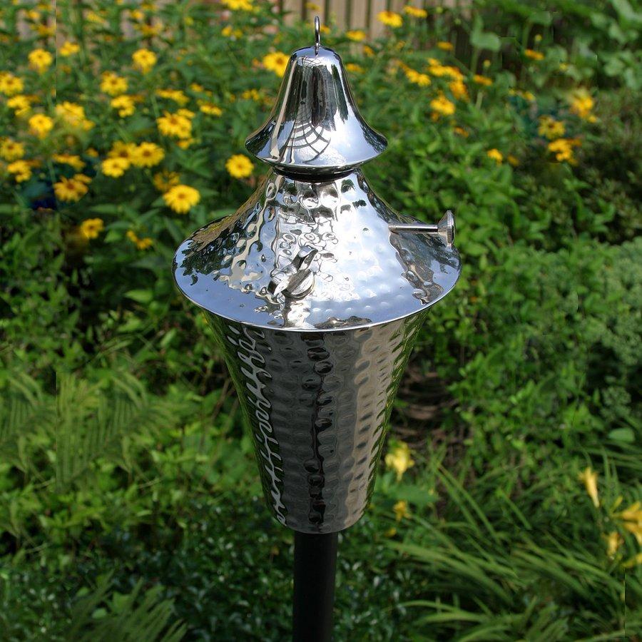 Starlite Garden & Patio Torche Deluxe Kona 2-Pack 63-in Hammered Nickel Copper Garden Torches