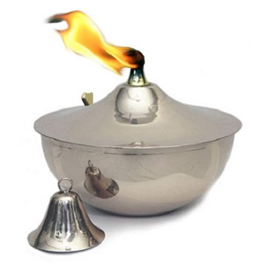 Legends Direct Maui 5-in Smooth Nickel Citronella Tabletop Torch