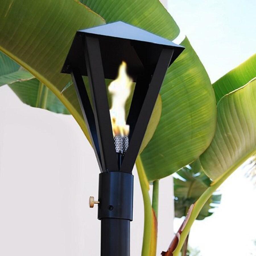 Legends Direct Big Kahuna 91-in Black Steel Garden Torch
