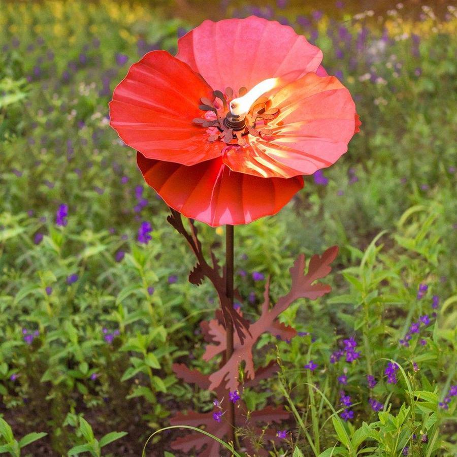 Desert Steel Poppy 36-in Garden Torches