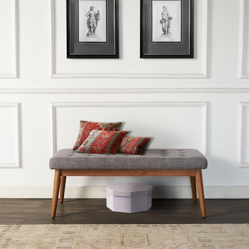 Crosley Furniture Landon Midcentury Acorn Accent Bench in the ...