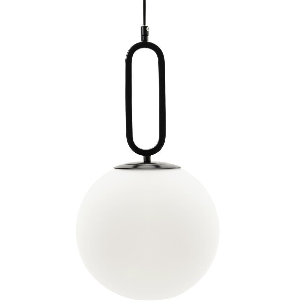 VidaLite Matt Black Modern/Contemporary Opal Glass Globe LED Kitchen Island  Light