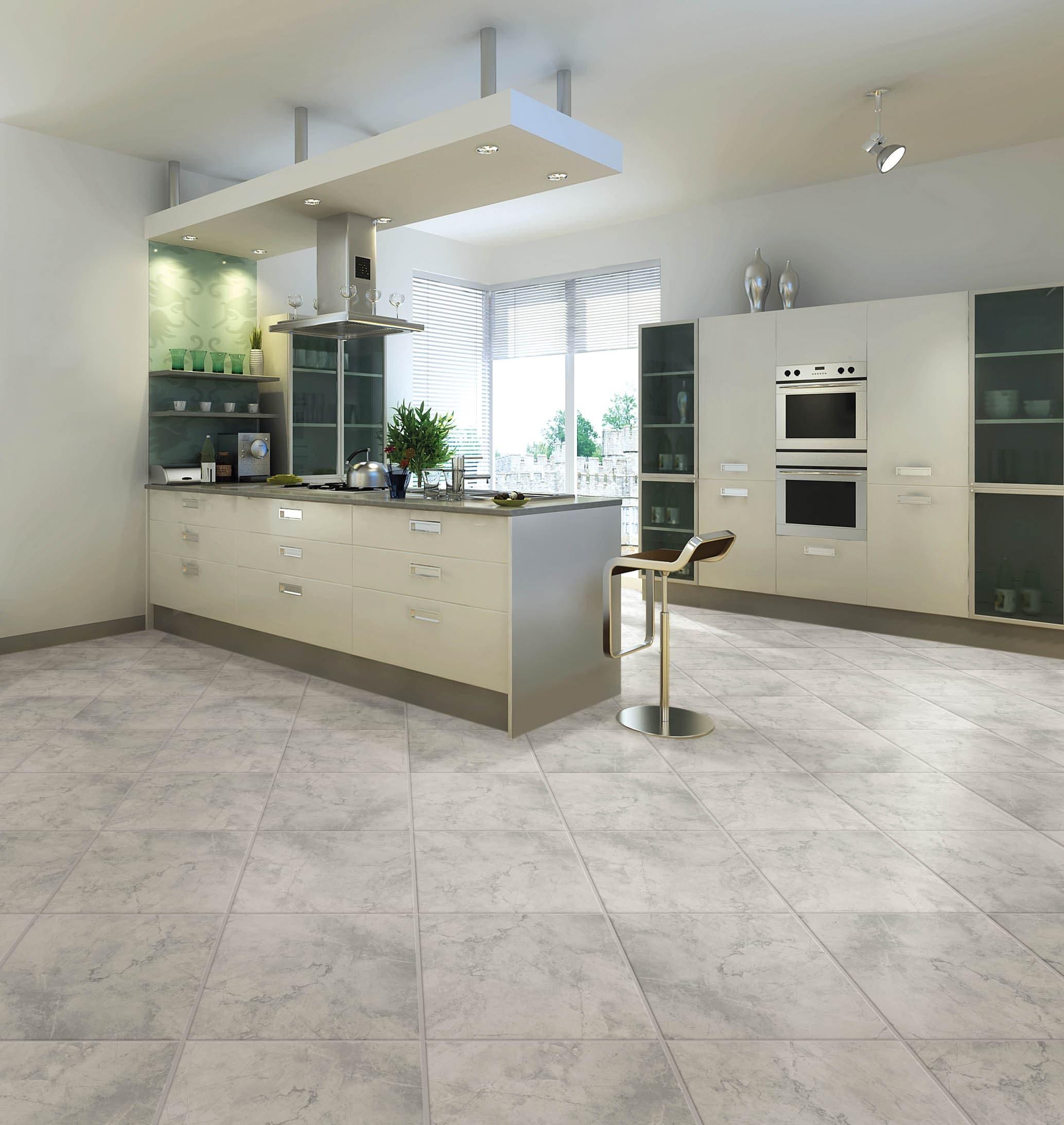 Chilo Gray 9 in x 9 in Glazed Ceramic Stone Look Floor Tile in ...