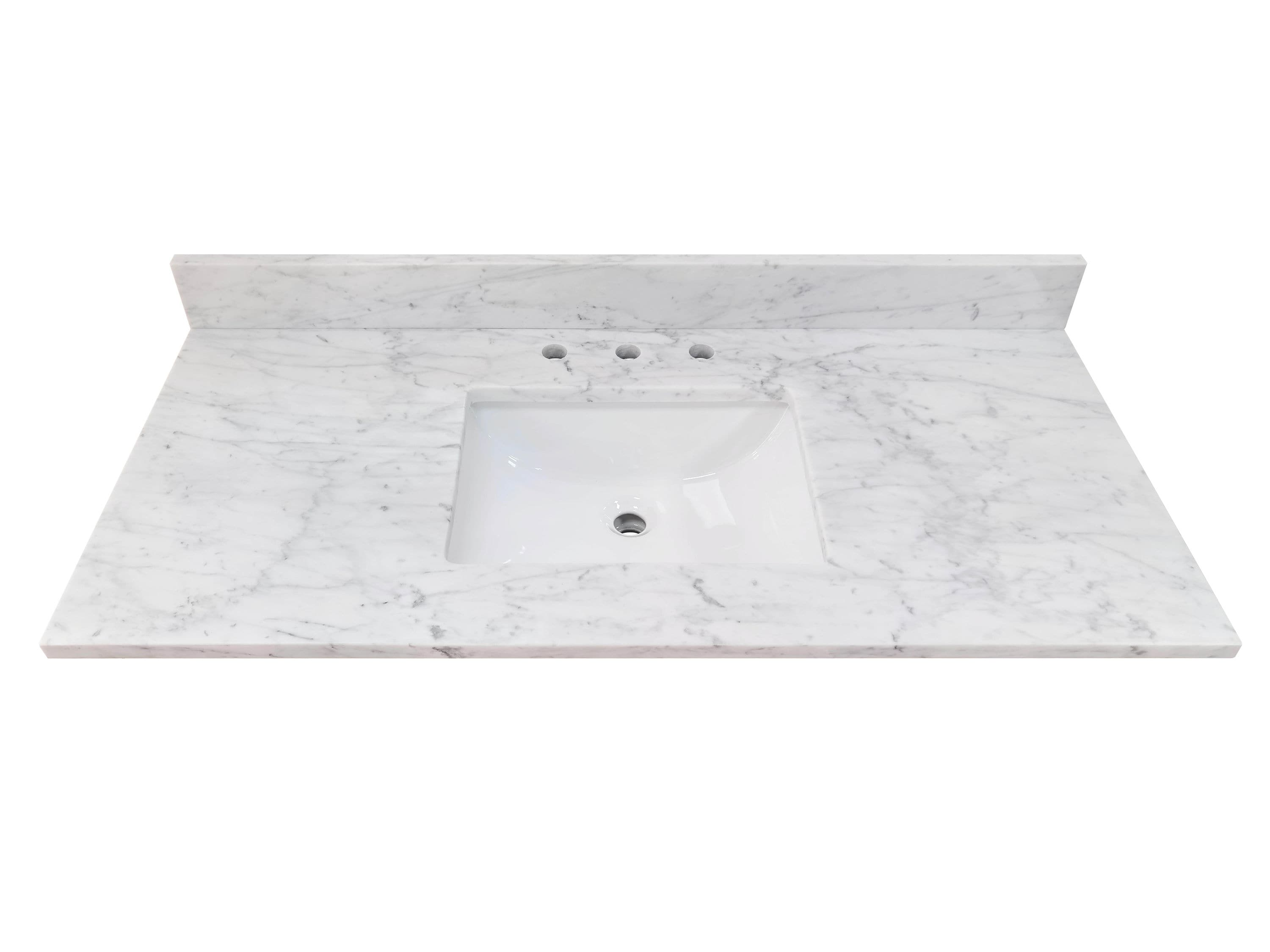 allen + roth Natural Carrara marble 20 in White Natural Marble ...
