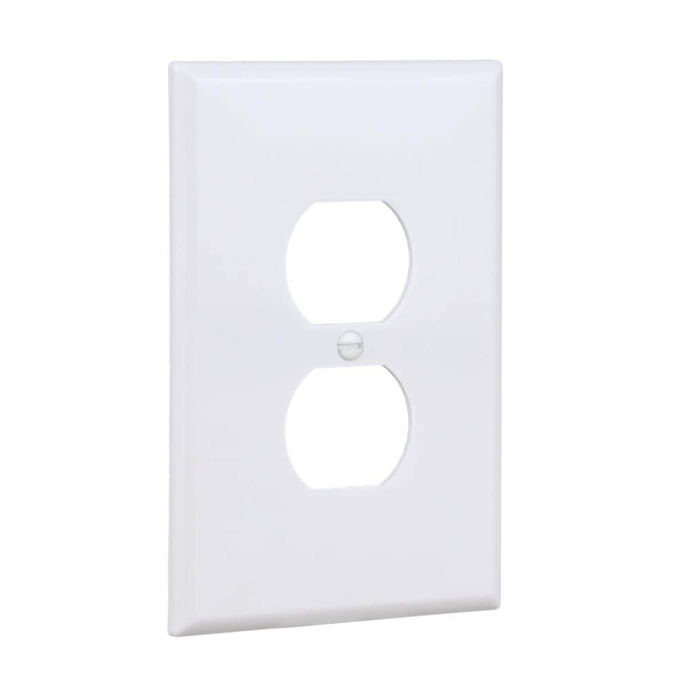 100 Cooper 1-Gang White Duplex Outlet Receptacle Cover Plastic Wallplates 2132W