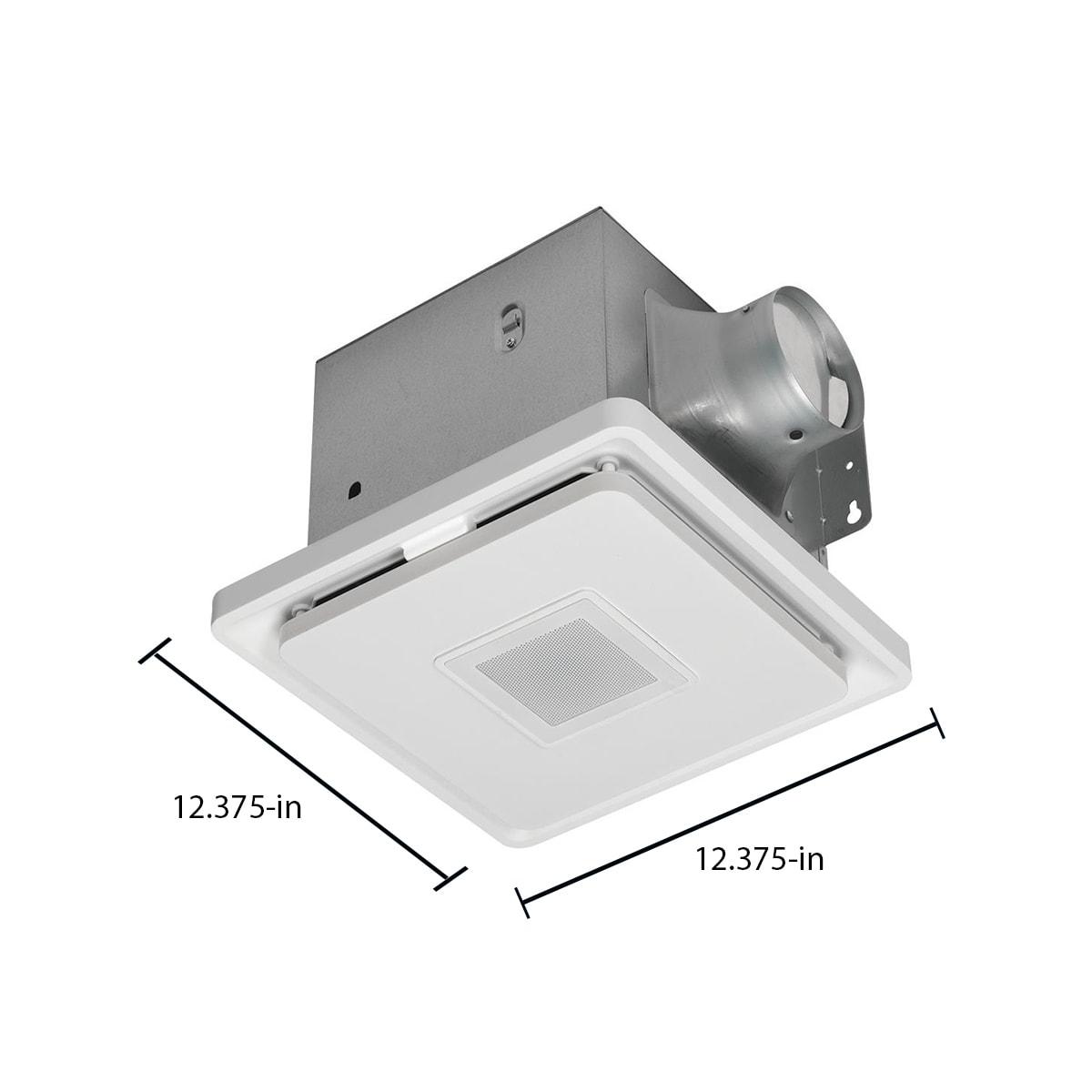 Homewerks 20.20 Sone 20200 CFM White Decorative Lighted Bathroom Fan ...