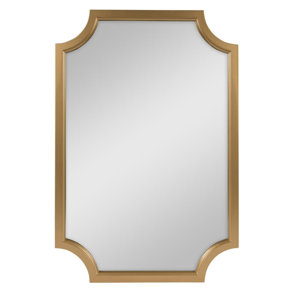 Kate and Laurel Hogan 36-in L x 24-in W Gold Framed Wall Mirror in ...