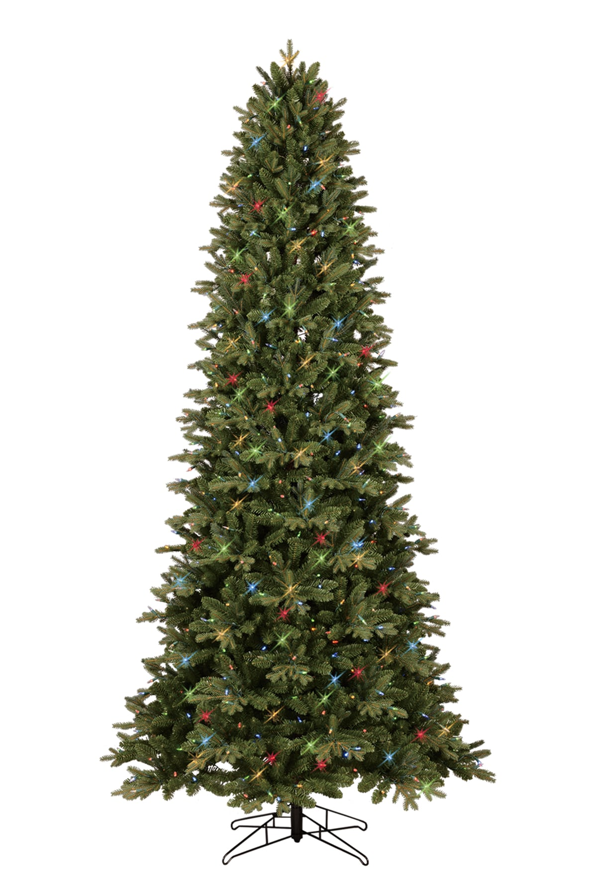 GE 12 ft Pre Lit Aspen Fir Artificial Christmas Tree with Color Changing LED  Lights