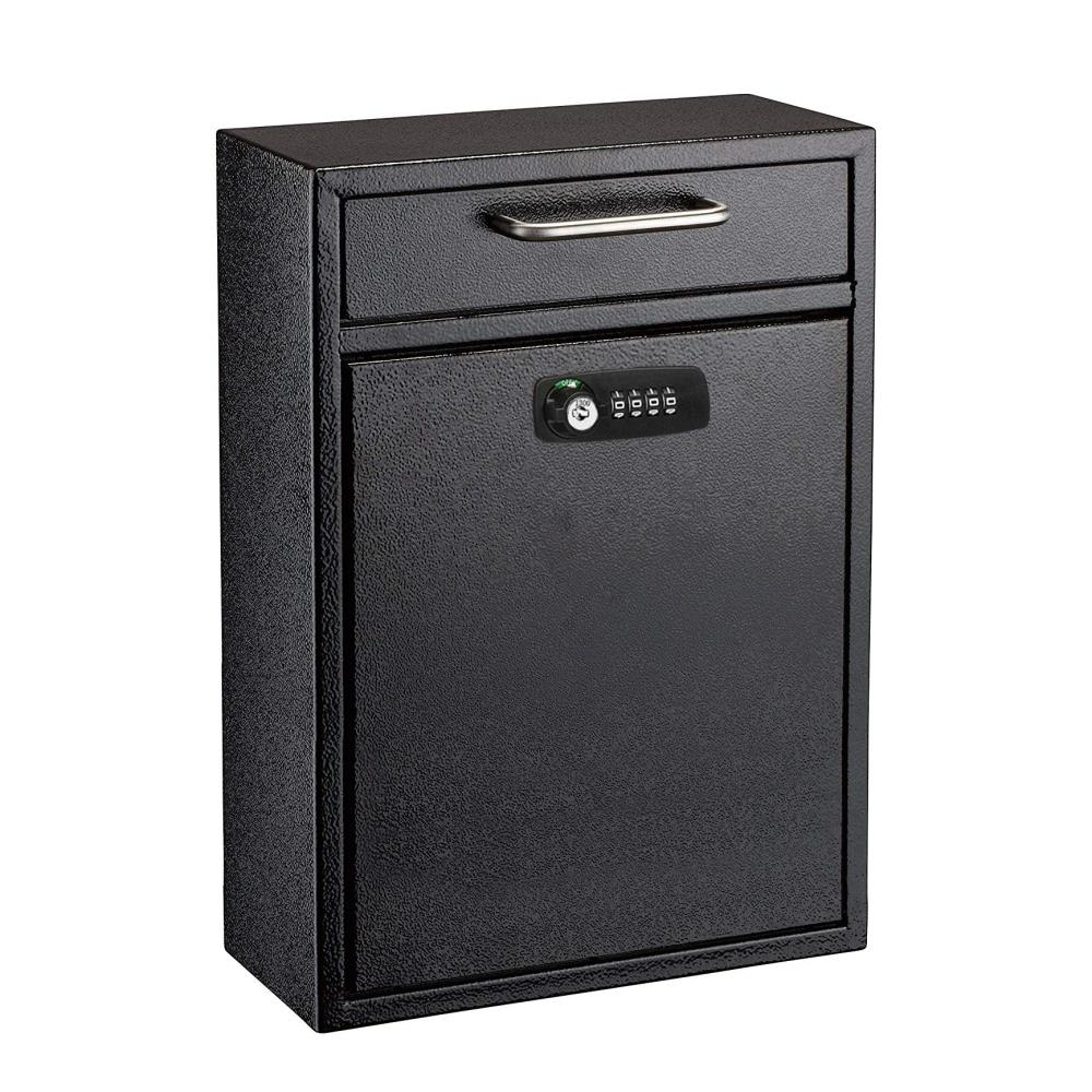 Gray Mailbox Durable Wall Mounted Letter Box Post Box with Lock for Villa