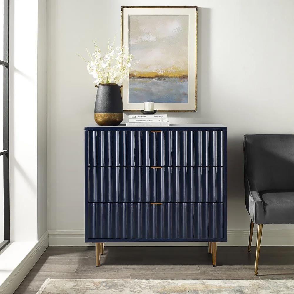 CASAINC 20 Drawer Cabinet Blue Fully Assembly Accent Chest Storage ...