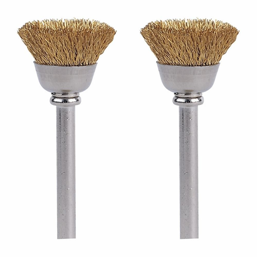 36X Brass Steel Wire Brushes Metal Rust Removal Polishing Brush for Rotary Tool