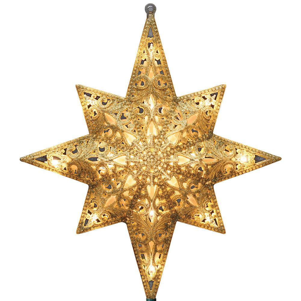 """Bethlehem Star 11/"""" Tree Top Topper LED Lighted Lights Color Changing"""