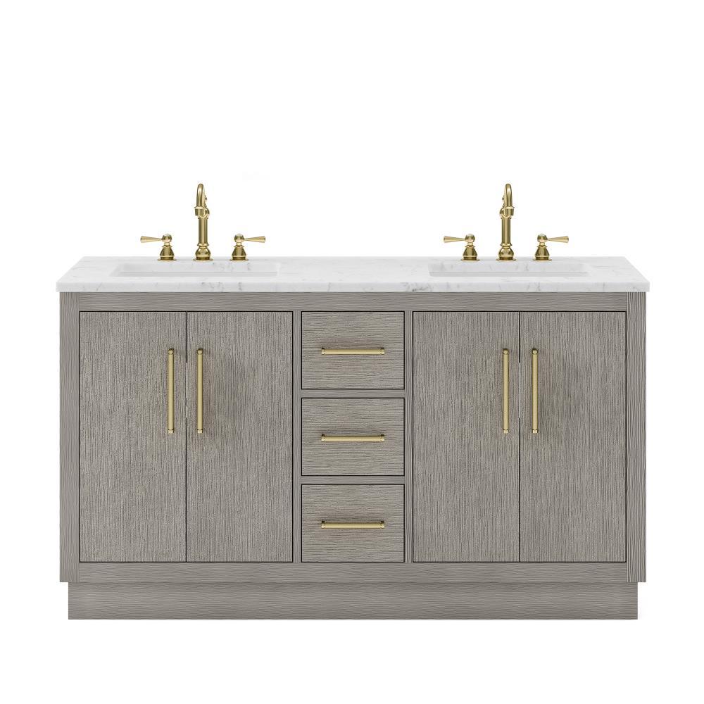 Water Creation Hugo 20 in Grey Oak Undermount Double Sink Bathroom ...