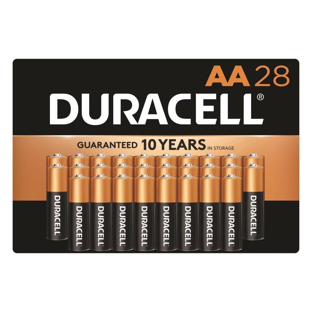Duracell Coppertop Alkaline Aa Batteries 28 Pack In The Aa Batteries Department At Lowes Com
