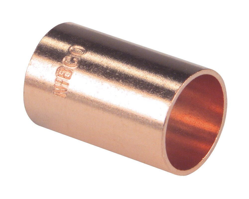 """One Only Elkhart 1-1//4"""" COPPER COUPLING WITH STOP 1"""