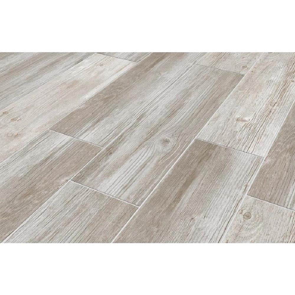 Style Selections Woods Vintage Gray 9 in x 9 in Glazed Porcelain ...